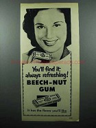 1951 Beech-Nut Gum Ad - Always Refreshing