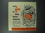 1953 Fleer Dubble Bubble Gum Ad - Easter Baskets