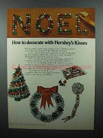 1977 Hershey's Kisses Candy Ad - How to Decorate
