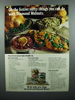 1980 Diamond Walnuts Ad - Festive Nutty Things
