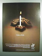 1980 Godiva Chocolate Ad - Make A Wish