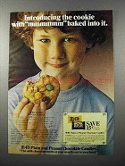 1979 M&M's Candy Ad - Cookie With mmmmmm Baked into