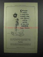 1903 Nabisco Sugar Wafers Ad - Woman Makes a King