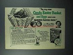 1953 Quaker Puffed Rice Cereal Ad - Candy Easter Basket