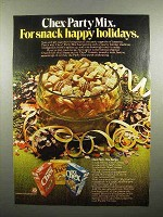 1977 Ralston Chex Cereal Ad - Chex Party Mix Recipe