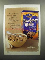 1999 Nabisco Cream of Wheat Blueberry Muffin Cereal Ad