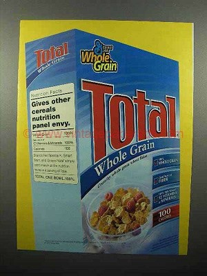 2005 general mills total cereal ad nutrition envy
