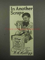 1912 Kellogg's Toasted Corn Flakes Cereal Ad - Scrape