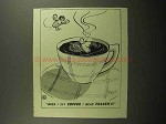 1945 Folgers Coffee Ad - When I Say Coffee I Mean