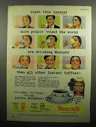 1950 Nescafe Coffee Ad - Right This Instant