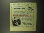 1950 Folger's Coffee Ad - Can you afford less?