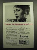 1950 Sanka Coffee Ad - Ever Worry About How Much