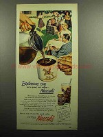 1951 Nescafe Coffee Ad - Barbecue Cue