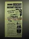 1951 Nescafe Instant Coffee Ad - Drink