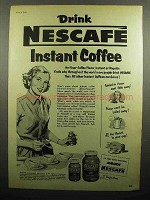 1952 Nescafe Instant Coffee Ad - Drink