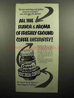 1953 Chase & Sanborn Instant Coffee Ad - Flavor, Aroma