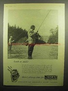 1955 Nescafe Instant Coffee Ad - Luck or Skill?