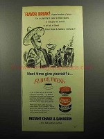1957 Chase & Sanborn Instant Coffee Ad - Flavor Break