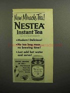 1957 Nestea Instant Tea Ad - New Miracle Tea