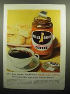 1958 Hills Bros Instant Coffee Ad - Smells Like Coffee