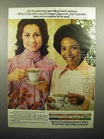 1977 International Coffees Ad - Carol Lawrence