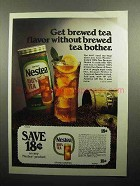 1978 Nestea Instant Tea Ad - Without Brewed Tea Bother