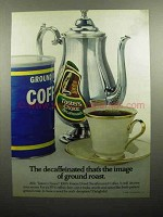 1980 Taster's Choice Coffee Ad - Image of Ground Roast
