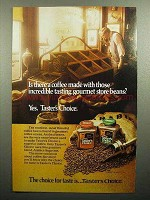 1985 Taster's Choice Coffee Ad - Gourmet Store Beans