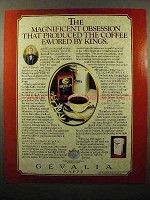 1986 Gevalia Coffee Ad - Favored by Kings