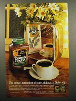 1986 Taster's Choice Coffee Ad - Pure, Rich Taste