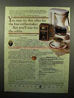 1995 Gevalia Coffee Ad - Try for the Free Coffeemaker