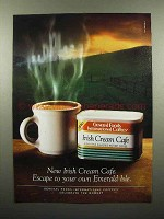 1996 International Coffees Irish Cream CafÈ Ad
