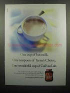 2000 Taster's Choice Coffee Ad - One Cup of Hot Milk