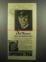 1937 Lipton's Tea Ad - Sir Thomas Knew the Secret