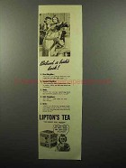 1938 Lipton's Tea Ad - Behind a Bride's Back