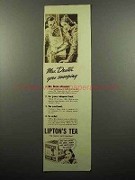 1938 Lipton's Tea Ad - Mrs. Dexter Goes Snooping