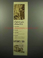 1938 Lipton's Tea Ad - Confession from Husband-to-Be