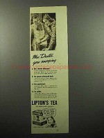 1939 Lipton's Tea Ad - Mrs. Dexter Goes Snooping