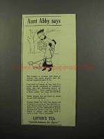 1940 Lipton's Tea Ad - Aunt Abby Says - Dog Walking