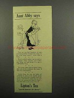 1940 Lipton's Tea Ad - Aunt Abby Says
