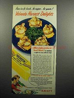 1951 Kraft Velveeta Cheese Ad - Harvest Delights