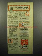 1952 Carnation Evaporated Milk Ad - How To Be Better Cook
