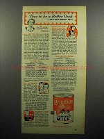 1952 Carnation Evaporated Milk Ad - How to Be a Better Cook