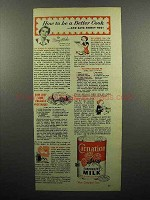 1953 Carnation Evaporated Milk Ad - Be a Better Cook!
