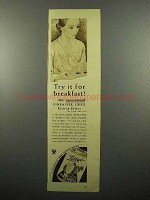 1934 Libby's Pineapple Juice Ad - For Breakfast
