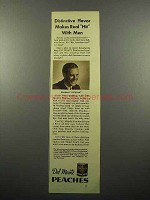1935 Del Monte Peaches Ad - Real Hit With Men