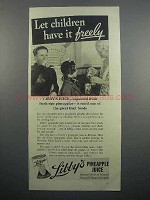 1936 Libby's Pineapple Juice Ad - Let Children Have It