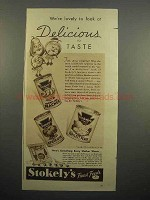 1937 Stokely's Peaches, Apricots, Pears Ad