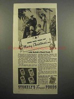 1937 Stokely's Fruit Ad - Say Merry Christmas!