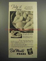 1937 Del Monte Pears Ad - Take It Easy